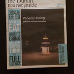 Theres artist Mark Clare on cover of Dublin Tourist guide - Phoenix Rising exhibition on @TheHughLane Dublin http://t.co/z8JDht8C97