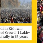 HISTORY created in Jammu & Kashmir by Modi Never before any rally had 1L+ ppl anywhere in entire state http://t.co/JIdX7h0TM7