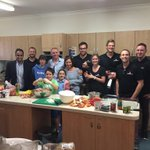 Dinner ready to roll for all at Ronald McDonald House - Team @lush_digital on fire and having a special time. #Perth http://t.co/yVIrypon0N