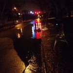 Rain and melting snow will cause road flooding today. Many catch basins blocked. (Pic: Richmond & Tamarack in G.R.) http://t.co/0rJd8gHdJP