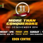 This week is loaded..Its #TheFathersChurch 11th year anniversary...Sound the alarm #MoreThanConquerors http://t.co/6dILD5w6VH