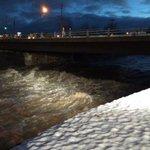 "Serious melt happening. MT ""@RobMarciano: flooding along the rising Buffalo Creek http://t.co/8lVDHAzATX"""