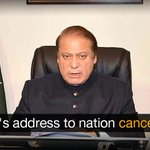 PTV sources had earlier confirmed the airing of a pre-recorded speech | http://t.co/fW8VKpWSCh http://t.co/l3tdLYfDVQ