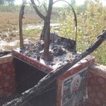 Another mandir burnt in tando m khan #PPP govt fails again to provide security to temples. @PTIofficial http://t.co/L6wSUaSWlP