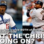Wow. Hanley Ramirez and Pablo Sandoval are both Red Sox right now. My friggin head is still spinning. http://t.co/e9MdOZ4GgB