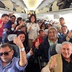 Alcaldesa @karen_rojov junto a delegación de #Antofagasta que estará presente en sorteo de Copa América @ca2015_en http://t.co/YvohyMX6XN