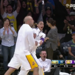 VIDEO: The Lakers bench goes nuts after a poster dunk by Wesley Johnson http://t.co/ft369vUOK3 http://t.co/QWBq5LXX4Y