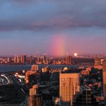 Monday morning with a rainbow. Looks like its going to be a good day! Pic courtesy of @SkyJacked793. #Toronto http://t.co/a8G2TCIhjM