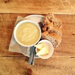 Our soup is locally made and super delicious. #bath #lunchtime @BathCoUK http://t.co/lofOKcOPgC