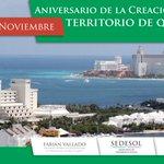 En #QuintanaRoo festejamos el 112 Aniversario de su creación como Territorio Federal en #México http://t.co/GYmYwfW4Dq