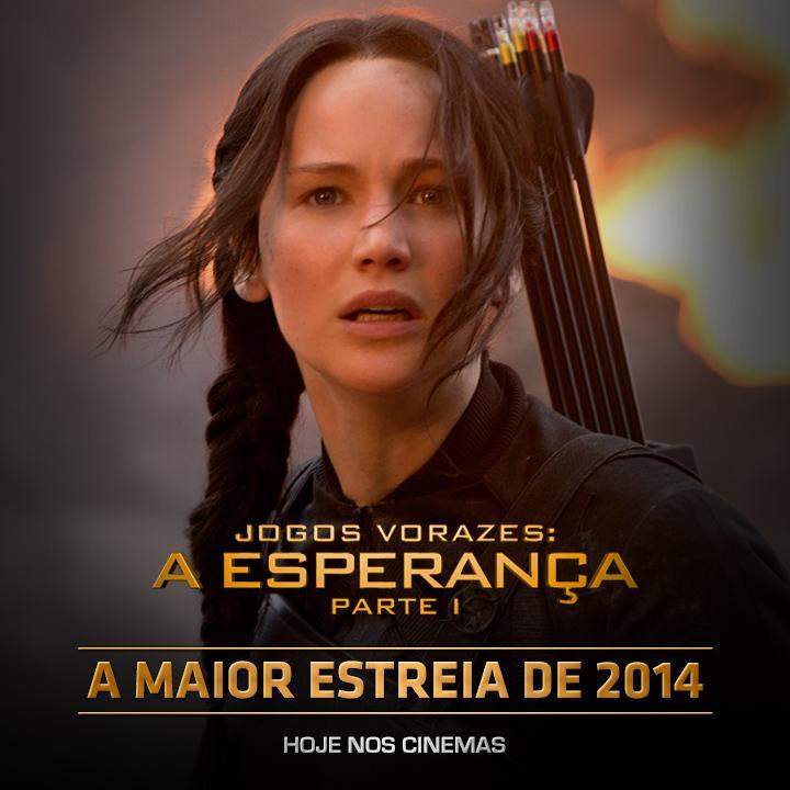 Sucesso absoluto: Jogos Vorazes: A Esperança - Parte 1 é a maior abertura do ano no Brasil e no mundo! #AEsperanca http://t.co/wSI3VVDrER