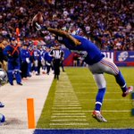 Photo of the Night: Odell Beckham Jr. had the catch of the year with this amazing one-handed TD grab. http://t.co/1W1V8Voxsk