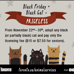 The City will waiving adoption fees for black cats this #BlackFriday! Details here: http://t.co/nyj80G5tdH #Toronto http://t.co/pVohgZMlJw