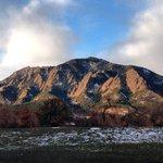 Morning sunlight on the Flatirons to kick off #Thanksgiving week. #cuboulder #boulder http://t.co/vQ8xeyk7MO