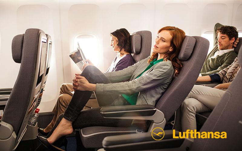 Click and enjoy! The lowdown on our all-new Premium Eco class in our Lufthansa magazine App.