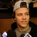 David Pastrnak receives 1st NHL recall as #NHLBruins prep for Pens. Watch Bruins Beat: http://t.co/ofXjjtXgJC http://t.co/GXaYbF9hTY