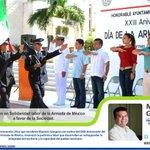 .@MauricioGongora encabezó la ceremonia cívica con motivo del XXIII Aniv. del Día de la Armada de México http://t.co/tL9WKuRFje
