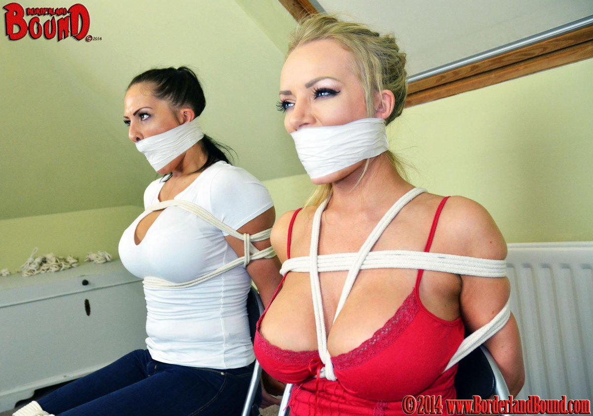 Beautiful snooping #girldetectives @hannahclaydon13 @Bambi_BS are  #boundandgagged by the crooks! Vid coming TONIGHT! http://t.co/GY31ceB5nJ