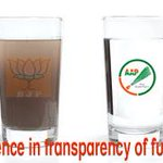 A perfect example to show difference of funding transparency b/w BJP and AAP #DinnerwithKejriwal #MufflerMan http://t.co/KcBpwBdfAc