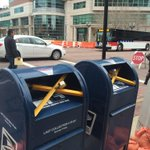 Mailboxes outside the St. Louis County courthouse are locked. Lots of prep here for the Ferguson grand jury decision. http://t.co/9GXAx0U3SB