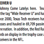 "It's Baylor-Texas Tech week, or the battle for ""Wide Receiver U."" From TTU weekly notes: http://t.co/j9mNPuyT4D"