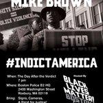 TOMORROW! #Boston #TurnUpForMikeBrown #IndictAmerica #BlackLivesMatter #BLMBoston http://t.co/OrFvrJqg6N