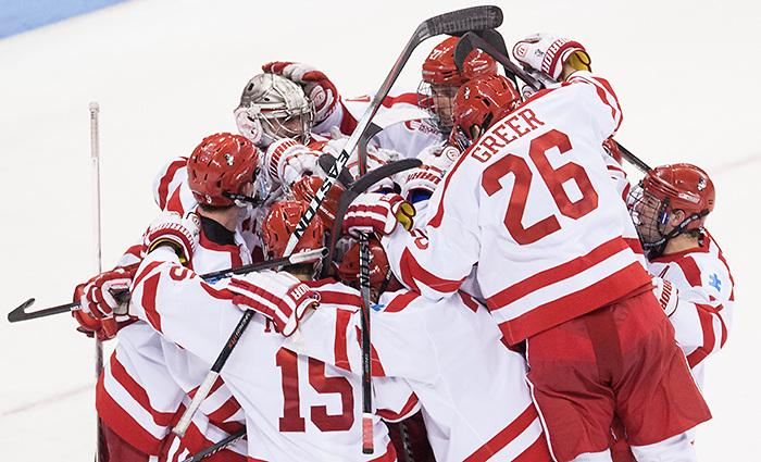 Boston University is the new No. 1 team in the http://t.co/Ts5H11tBCK Division I Men's Poll. http://t.co/u6dZfQj9k0 http://t.co/FB96oaIEfh