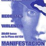 Que tú silencio no sea el escudo de ningún maltratador. Acude a la manifestación #Burgos #25N #NoAlaViolenciaMachista http://t.co/eF875jqlQl