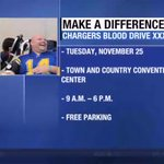 Watch to find out how the @Chargers started the Blood Drive, and for how you can help! http://t.co/XP8Q0oxpaD http://t.co/o2x88TpgLz