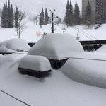 There was no snow on this table Saturday morning. @snowbird http://t.co/v84USVwriu