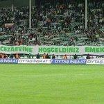 Bursaspor taraftarının açtığı pankart  Bursa kapalı cezaevine hoşgeldiniz EMEK HIRSIZLARI  http://t.co/ZDauKAMf3M