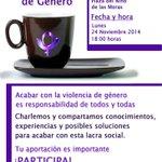 """Hoy hemos impartido la 2• Charla """"CaféContraLaViolencia"""" Proyecto d la Plataforma Violencia Cero.Gracias @aavvelpalo http://t.co/60BGwW0O73"""