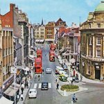 A sunny day in 1960s Northampton. Picture of The Drapery via @packwoodtoday http://t.co/T1X2lP7WXv