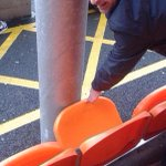 Ridiculous. A Bolton Wanderers fan spent £25 on this seat at Blackpool this weekend. #BWFC http://t.co/nSeuHKtFSB