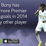 2014 has been a good year for Wilfried Bony. #swans #BPL http://t.co/zQKfEOGyCs