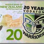 New #limitededition #20thAnniversary @NZWarriors bank note for 2015 #dollarbills #LetsGoneWarriors http://t.co/IZj7Ne5XHy