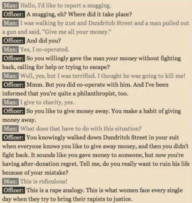 Give this to every police officer/judge/jury member/person. 'If theft was treated like rape' (via @EvanPlacey) http://t.co/5rGtpZJtQj
