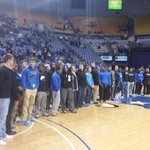 Sycamores honored at halftime of tonights basketball game for its playoff berth this season! http://t.co/H3EmsxXDsH
