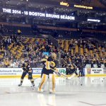 #TuukkaTime tonight. Rask leads #NHLBruins out for warmups http://t.co/qAf0byYScX