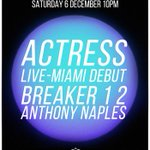 SAFE Off/Basel 2014 Special Actress [Live] #Miami Debut Breaker 1 2 Anthony Naples LimitedTix: http://t.co/olxU7bQTaj http://t.co/ODKgnS10Wc