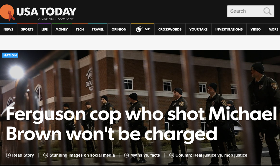 .@USATODAY isn't waiting for the official announcement. #Ferguson http://t.co/cgOFyXAAix