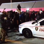 """Obama to Ferguson: Justice """"wont be done by smashing windows."""" Meanwhile, back in Ferguson: http://t.co/tlpkggdYrq"""