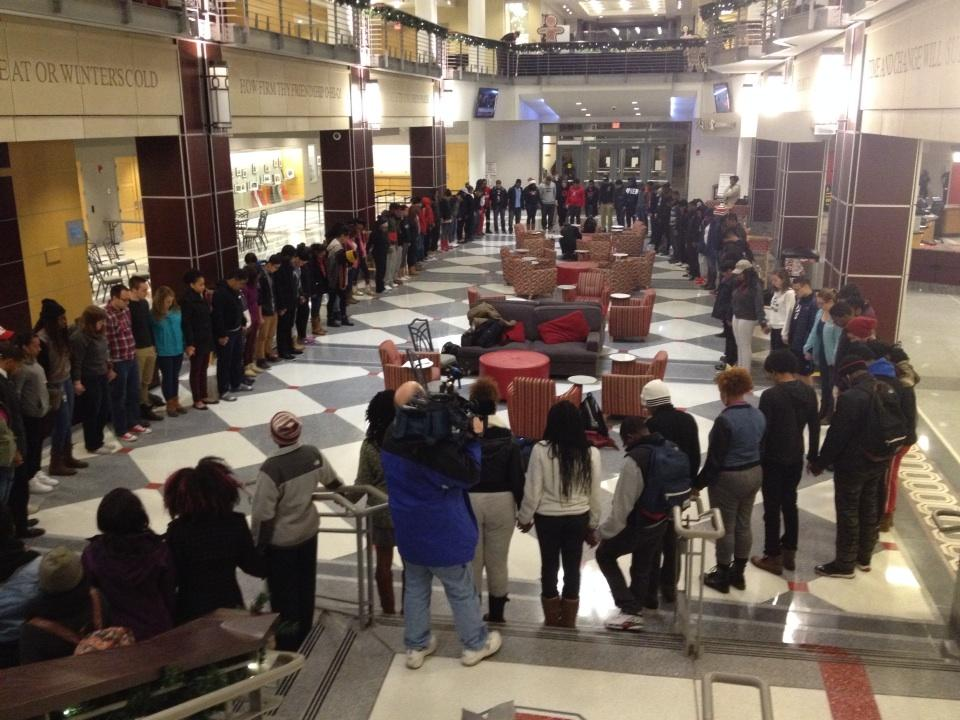OSU students holding a prayer vigil for situation in Ferguson. You'll hear from them at 11:30 on 10TV http://t.co/3OiugiRTQV