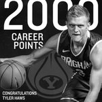 Congrats @tyhaws3 on hitting 2000+ career points!! #BYUhoops http://t.co/EDSpAVDY8g