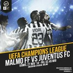 #UCL Matchday-5 | Malmo vs JUVENTUS | Live Streaming. http://t.co/ISrOpRHD4M