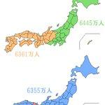 日本の人口を二分したかった(すごくどうでもいい) http://t.co/LcYvNxxIQG