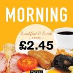 Breakfast & Hot drink only £2.45 #Yates #Hereford http://t.co/vtwLPuv116