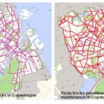 #Copenhagen maps: cycle track streets, & those where winter maintenance prioritized. Notice anything? http://t.co/AcqwSkAWaH XD
