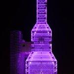 As Torres Hejduk píntanse de lila polo Día Internacional contra a violencia de xénero. #25N #BastaXa http://t.co/Vkm1cmN8Ov