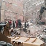 Scene of building collapse in #Cairo. http://t.co/Yb40sXHt6n via @OrlaGuerin